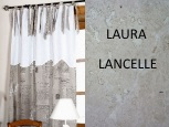 LAURA LANCELLE<br>MANUSCRIT LIN <br>カーテン