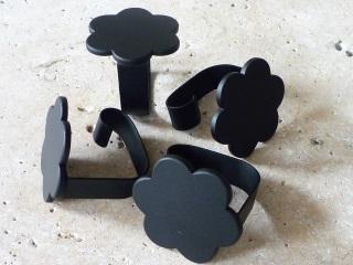 花型テーブルクロスクリップ4個セット