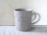 Value ceramic Gray Damask マグ