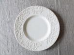 Value ceramic Ivory Damask デザートプレート Φ22cm